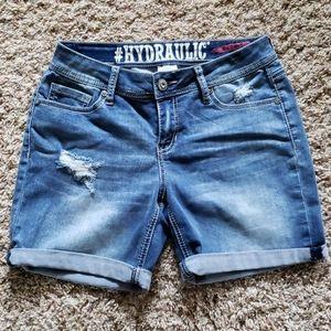 Hydraulic jean shorts, size 7-8